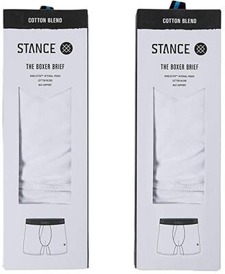 Stance Standard 6 2-Pack (Black) Men's Underwear