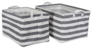 Design Imports Large 2-Pc. Rectangle Laundry Hamper Set
