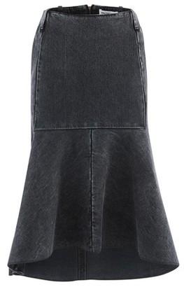 Balenciaga Godet denim skirt