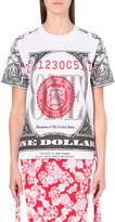 Opening Ceremony Dollar-print cotton-jersey t-shirt