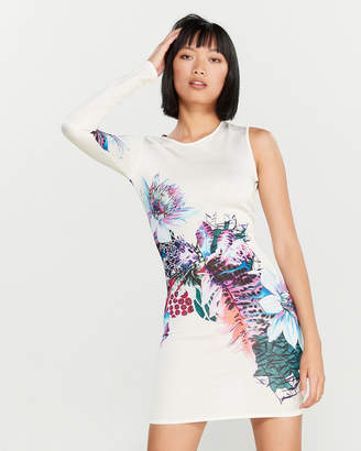 Roberto Cavalli Floral Asymmetrical Dress