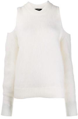 Diesel long sleeve cold shoulder pullover