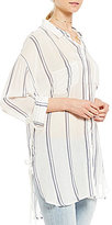 GB Striped Button Front Tunic