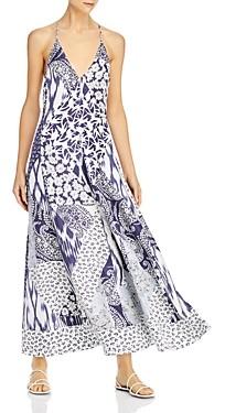 Rebecca Taylor Mosaic Plunge Maxi Dress