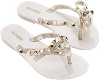 Melissa Mini Slip-On Bow Sandals -Harmonic Studs