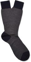 Pantherella - Finsbury Herringbone Merino Wool-blend Socks