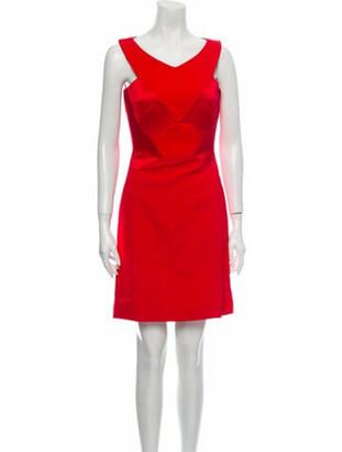 Antonio Berardi V-Neck Mini Dress w/ Tags Red