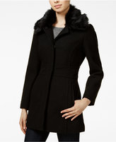 Jessica Simpson Faux-Fur-Collar Walker Coat