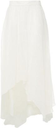 Brunello Cucinelli Tiered Embellished Silk-organza Maxi Skirt