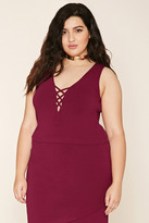 Forever 21 FOREVER 21+ Plus Size Crisscross Crop Top