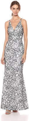 Dress the Population Women's Karen Plunging Lace Gown