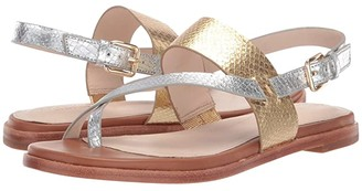 Cole Haan G.OS Anica Thong Sandal (CH Gold/Silver Metallic Snake Print) Women's Shoes