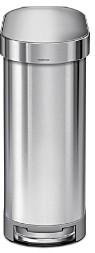 Simplehuman 45-Liter Slim Step Trash Can with Liner Rim