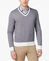 Brooks Brothers Red Fleece Men's Textured Cotton V-Neck Sweater