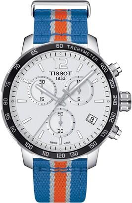 Tissot Men's Quickster Chronograph NBA New York Knicks Watch, 42mm