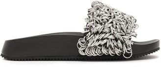 Alexander Wang Suki Ring-embellished Leather Slides
