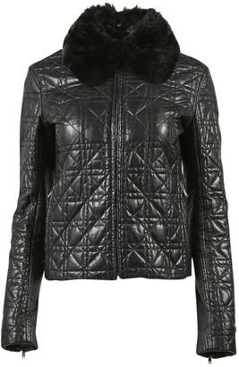 Nicole Farhi Black Rabbit Leather jackets
