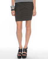 Fab Asymmetric Pleats Mini Skirt
