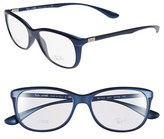 Ray-Ban Women's 54Mm Optical Glasses - Blue (Online Only)