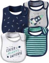 Carter's 4 Pack Teething Bibs - Navy - One Size
