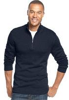 John Ashford Solid Quarter-Zip Sweater