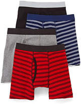 Arizona 4-pk. Striped Boxer Briefs - Boys & Husky 4-20