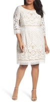 Gabby Skye Plus Size Women's Lace Sheath Dress