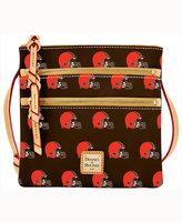 Dooney & Bourke Cleveland Browns Triple-Zip Crossbody Bag