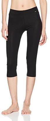 Skiny Women's Sleep & Dream Leggings 3/4 Pyjama Bottoms, Black 7665, 10 (Size: )