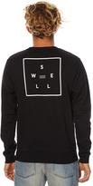 Swell Scribe Mens Fleece Crew Black