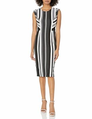 BCBGMAXAZRIA Women's Striped Sheath Dress