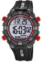 Calypso Men's Digital Watch with LCD Dial Digital Display and Black Plastic Strap K5701/6