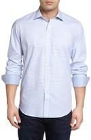 Bugatchi Men's Classic Fit Modern Check Sport Shirt