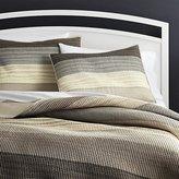 Crate & Barrel Sedona Grey Quilts and Pillow Shams