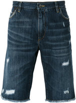 Dolce & Gabbana distressed denim short - men - Cotton/Calf Leather/zamac - 46