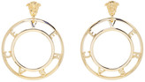 Versace Gold Logo Earrings