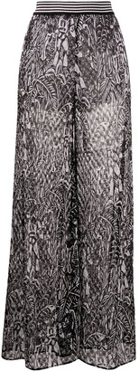 Missoni Abstract-Print Wide-Leg Trousers