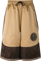 Astrid Andersen - satin panel track shorts - men - Polyester - S