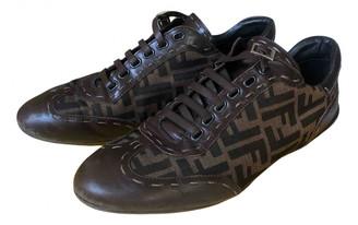 Fendi Brown Leather Flats