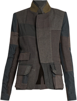 Haider Ackermann Gourdan single-breasted patchwork jacket