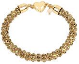Betsey Johnson Garden Of Excess Topaz And Gold Magnetic Bracelet