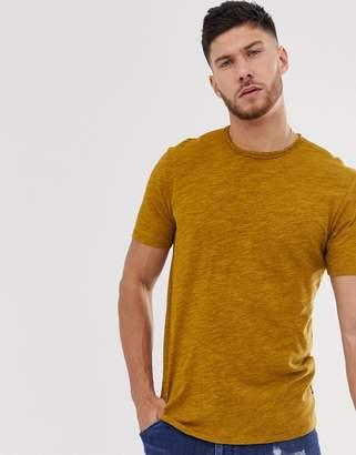 ONLY & SONS raw hem t-shirt-Green
