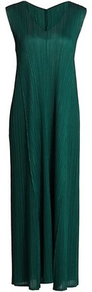 Pleats Please Issey Miyake Monthly Colors October V-Neck Sleeveless Dress
