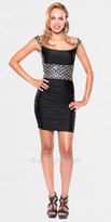 Atria Diamond Jewel Patterned Mini Dress