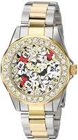 Invicta Women's 'Disney Edition' Quartz Stainless Steel Casual Watch, Color:Two Tone (Model: 24418)