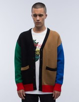ROCKET X LUNCH R Color Knit Cardigan