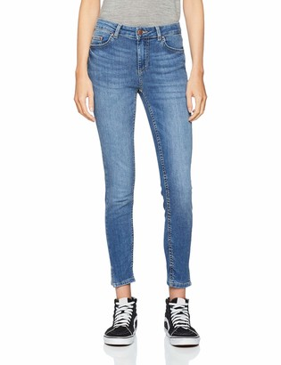 Pieces Women's Pcdelly Mw Crop Slit Sk Mb207-ba/noos Skinny Jeans