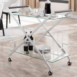 Orren Ellis Carlos Bar Cart Orren Ellis Color: Silver