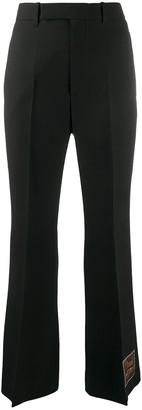 Gucci Black Wool Wide Leg Pants