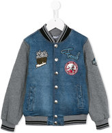 Dolce & Gabbana panelled bomber jacket - kids - Cotton/Polyester/Polypropylene/Viscose - 2 yrs